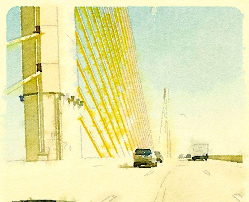 Painted in Waterlogue bridge