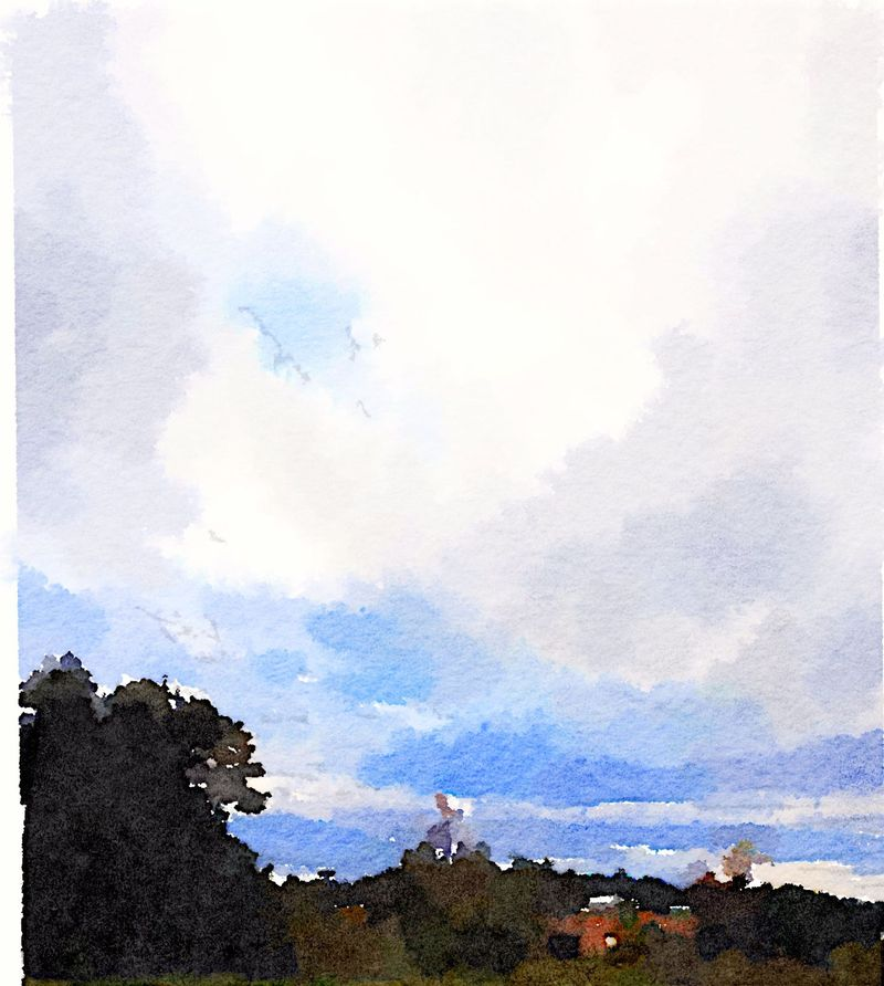 Painted in Waterlogue -Morning Sky