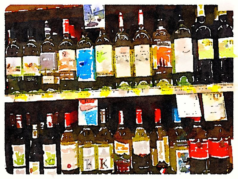 Painted in Waterlogue wine