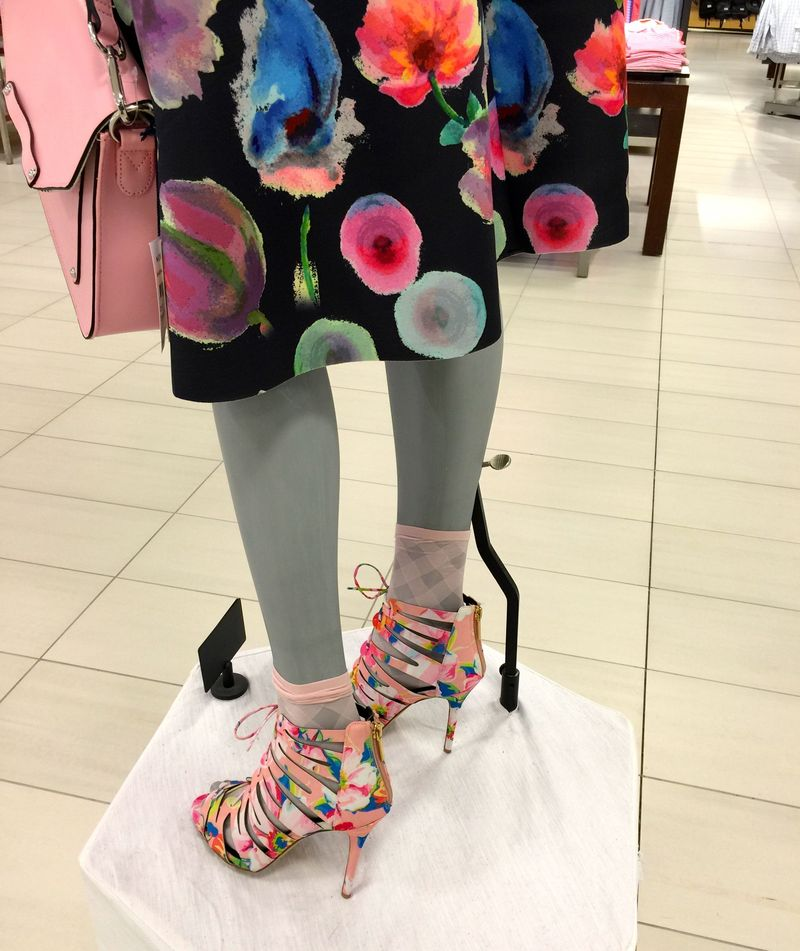 Spring flower shoes