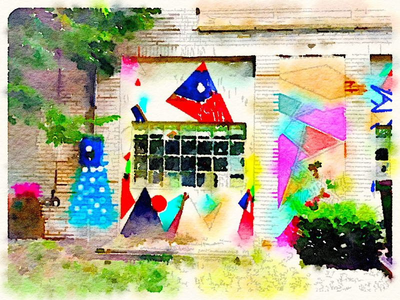 Painted in Waterlogue - fun building