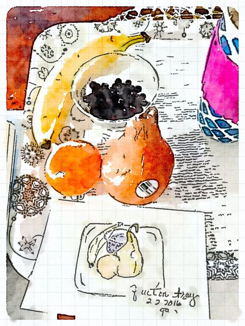 Painted in Waterlogue-fruitontray