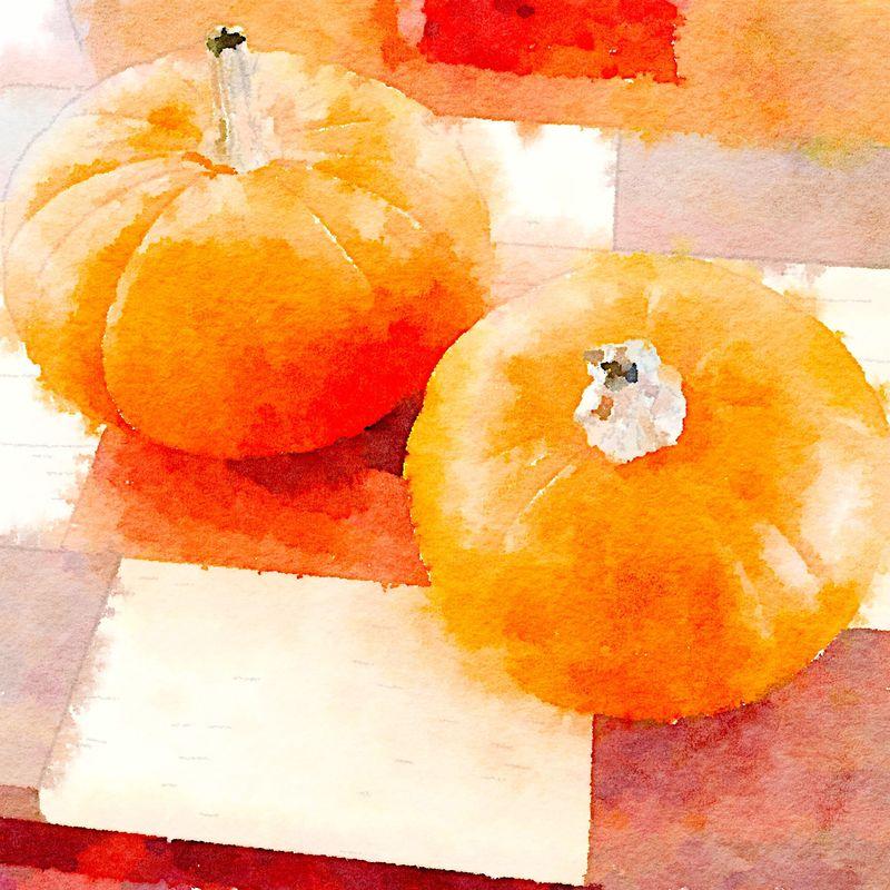 Painted in Waterlogue -Pumpkins