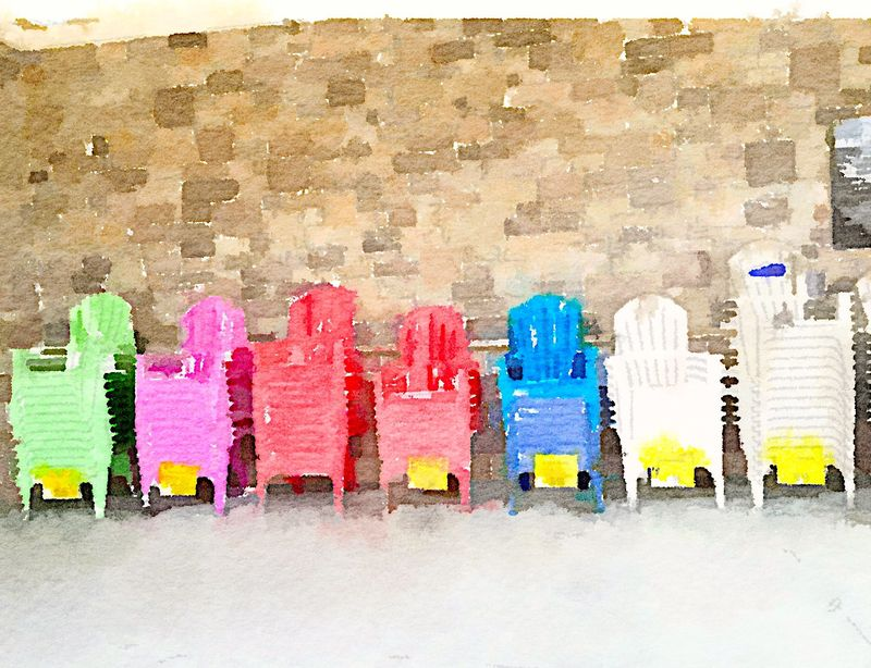 Painted in Waterlogue-chairs
