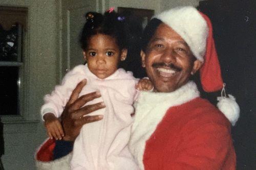 Jolly santa and dolly